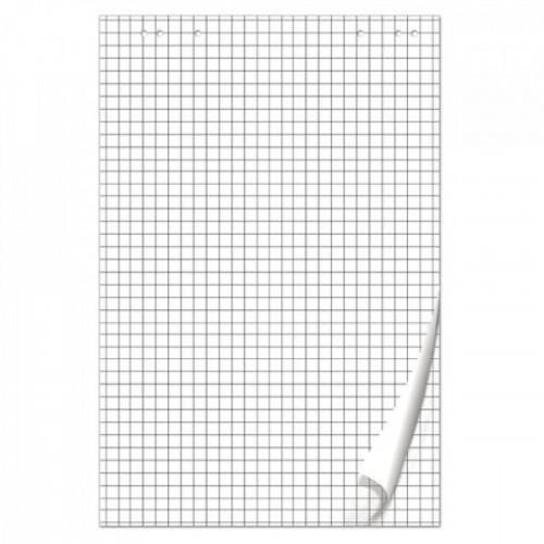 Блок бумаги для флипчартов BRAUBERG, 50 листов, клетка, 67,5х98 см, 80 г/м2, 128647