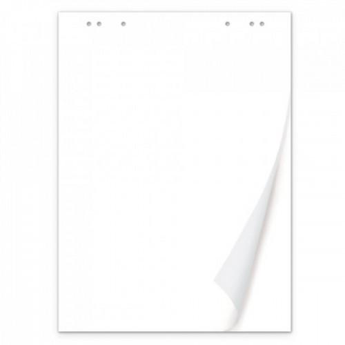 Блок бумаги для флипчартов BRAUBERG, 50 листов, чистые, 67,5х98 см, 80 г/м2, 128648