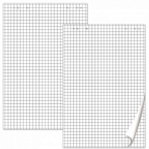 Блок бумаги для флипчартов BRAUBERG, комплект 5 шт., 20 л., клетка, 67,5х98 см, 80 г/м2, 124097