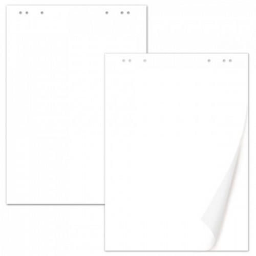 Блок бумаги для флипчартов BRAUBERG, комплект 5 шт., 20 л., чистые, 67,5х98 см, 80 г/м2, 124098