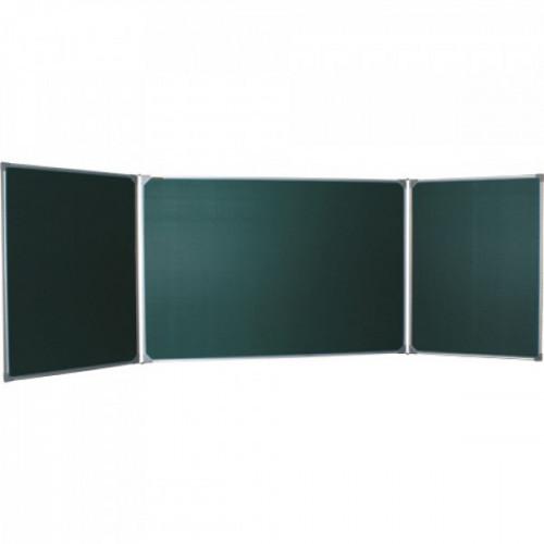 Доска магнитно-меловая BOARDSYS 100х150/300см трехэлементная зеленая