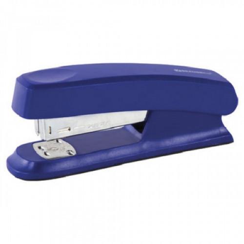 """Степлер BRAUBERG """"Standard"""", №24/6, до 25 листов, пластиковый корпус, металлический механизм, синий, 226852"""