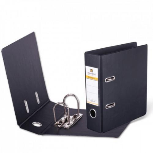 Папка-регистратор BRAUBERG, А5, вертикальная ПВХ/ПВХ 70 мм, черная