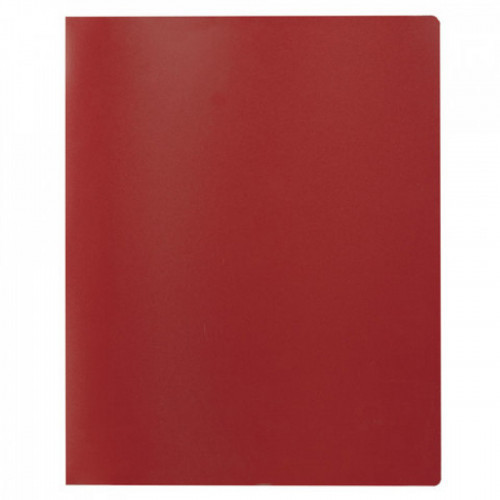 Папка на 2 кольцах STAFF, 21 мм, красная, до 120 листов, 0,5 мм, 225718