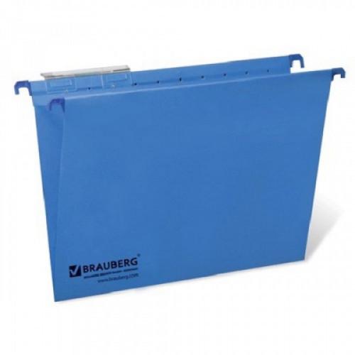 Подвесные папки картонные BRAUBERG(Италия), комплект 10 шт., 370х245 мм, 80 л., Foolscap, синие, 230 г/м2, табуляторы, 231793