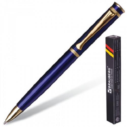 "Ручка бизнес-класса шариковая BRAUBERG ""Perfect Blue"", корпус синий, узел 1 мм, линия письма 0,7 мм, синяя, 141415"