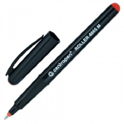 Роллер CENTROPEN, трехгранная, корпус черный, узел 0,7 мм, линия 0,6 мм, красная, 4665/1К