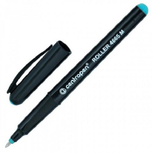 Ручка-роллер CENTROPEN, трехгранная, корпус черный, узел 0,7 мм, линия 0,6 мм, зеленая, 4665/1З