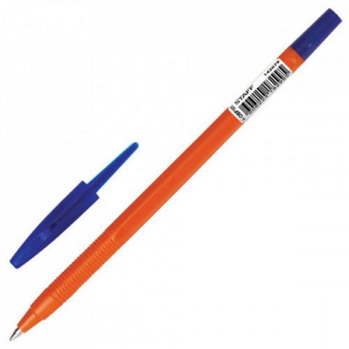 """Ручка шариковая масляная STAFF """"Flare"""" корпус оранжевый узел 1 мм линия 0,7 мм синий 142679"""