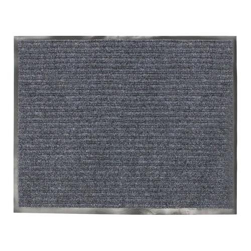 Коврик входной ворсовый влаго-грязезащитный VORTEX, 120х150х7 см серый