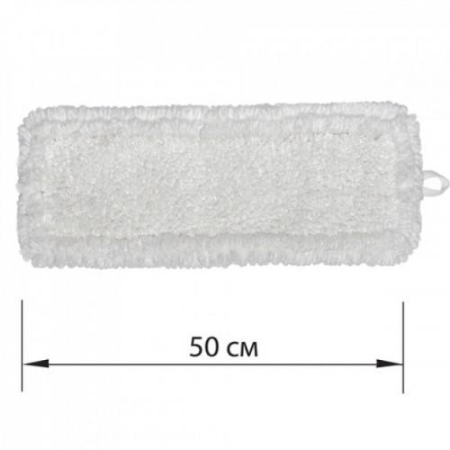 Насадка МОП плоская для швабры/держателя 50 см с ушами/карманами, петлевая микрофибра, ЛАЙМА EXPERT