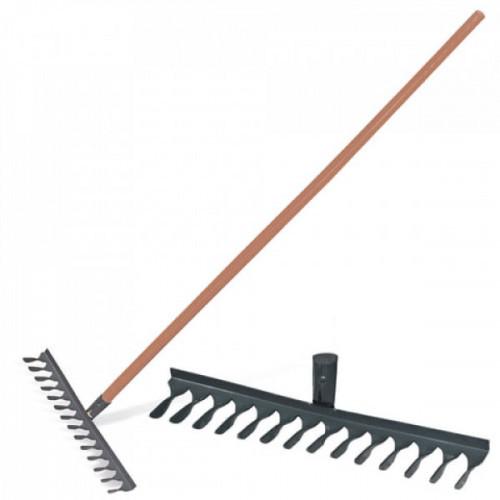 Грабли классические витые, 14 зубьев, ширина 44 см, деревянный черенок 120 см, КМ000876
