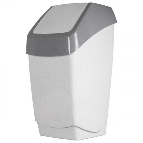 Ведро мусорное  25 л, с качающейся крышкой серое, 55х30х28 см IDEA Хапс