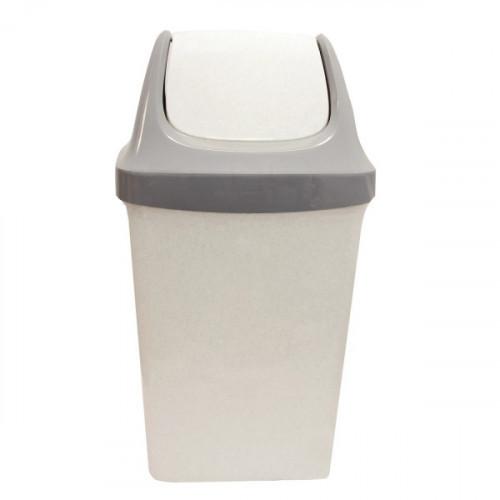 Ведро мусорное 25 л с качающейся крышкой,серое, 58х32х28 см IDEA Свинг