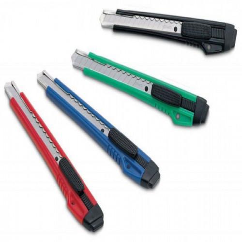 Нож Kw-Trio 3563 9 мм усиленный 2 сменных лезвия металл ассорти блистер