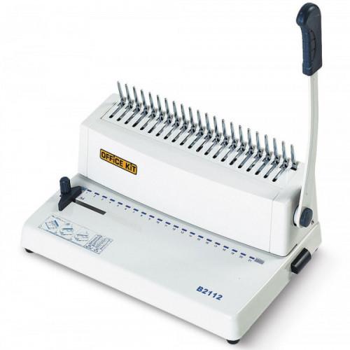 Брошюровщик Office Kit B2112 A4/пробивает 12 листов/ сшивает 250 листов/пластиковая пружина (6-28мм)