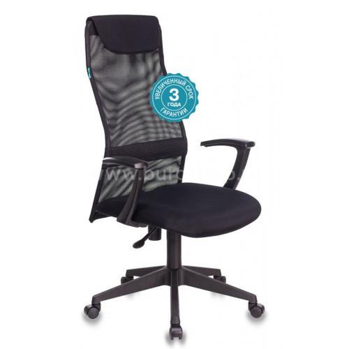 Кресло руководителя Бюрократ KB-8N/BLACK черный TW-01 TW-11 сетка/ткань
