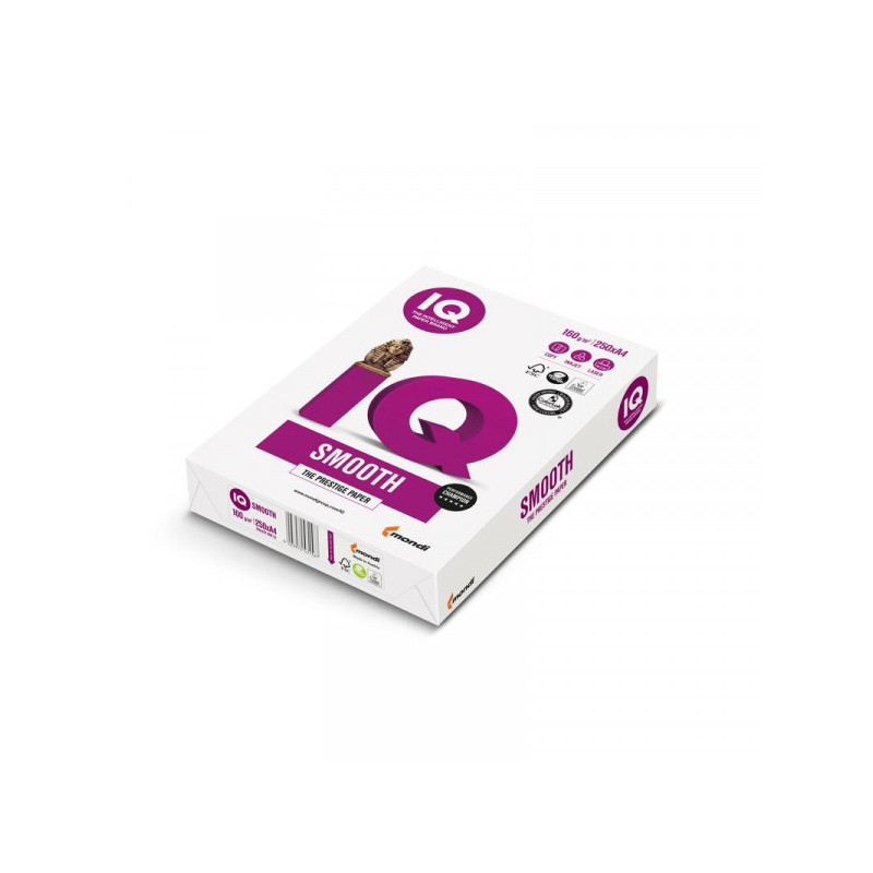 Бумага IQ SELECTION А4 160 грамм 170 %CIE пачка 250 листов