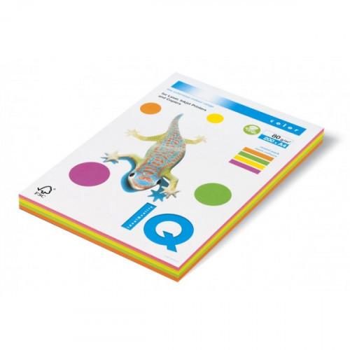 Бумага цветная IQ COLOR А4 80 г 4 цвета по 50 листов пачка 200 листов