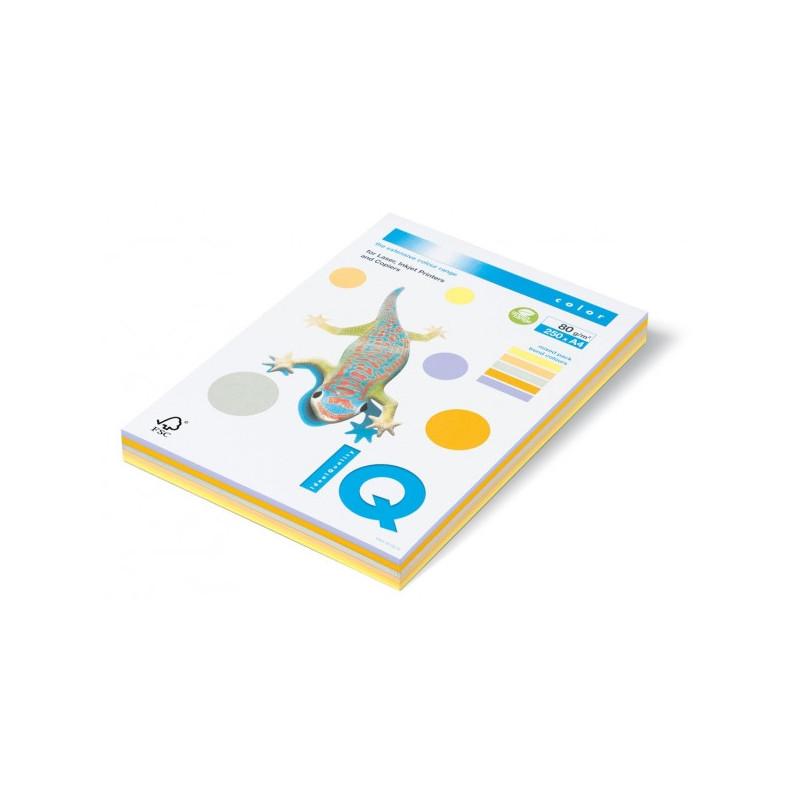 Бумага цветная IQ COLOR А4 80 г 5 цветов по 50 листов пачка 250 листов