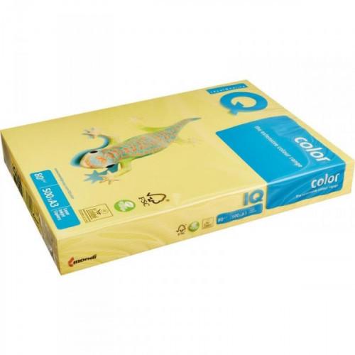 Бумага цветная IQ COLOR А3 80 г CY39-канареечно-желтый 500 листов