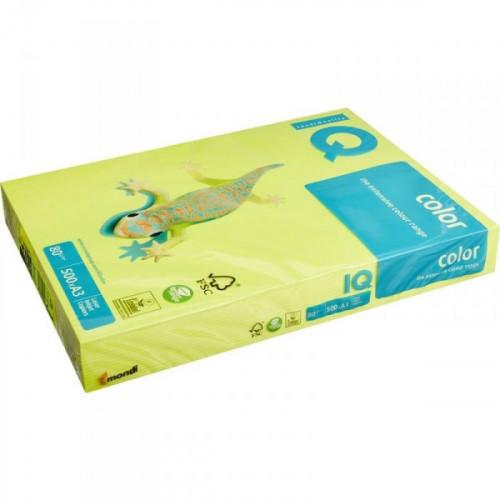 Бумага цветная IQ COLOR А3 80 г NEOGB-желтый неон 500 листов