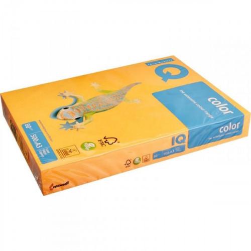 Бумага цветная IQ COLOR А3 80 г NEOOR-оранжевый неон 500 листов