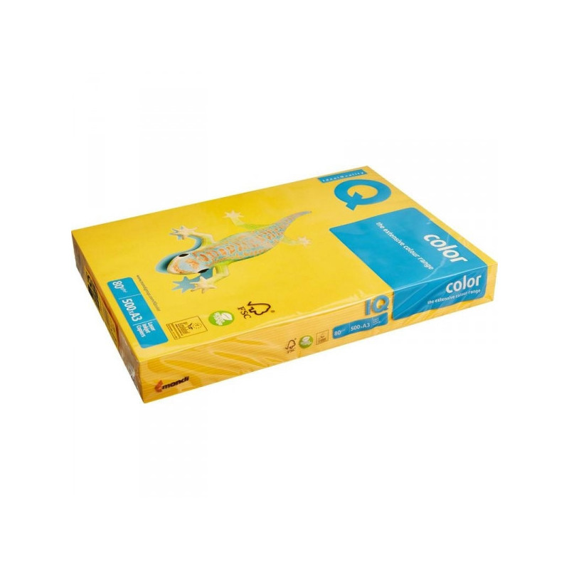 Бумага цветная IQ COLOR А3 80 г SY40-солнечно-желтый 500 листов