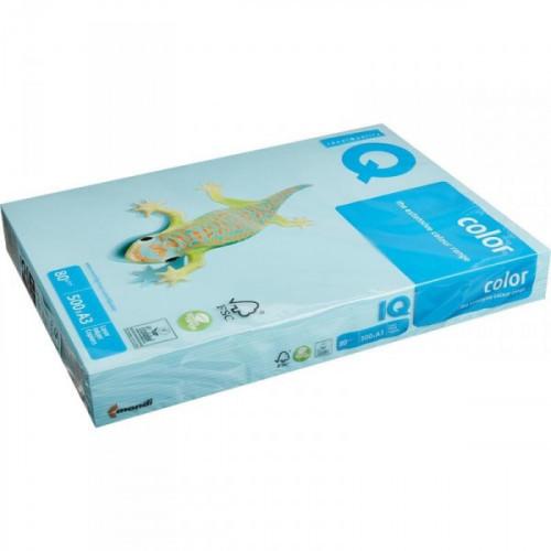 Бумага цветная IQ COLOR А3 80 г МВ30-голубой 500 листов