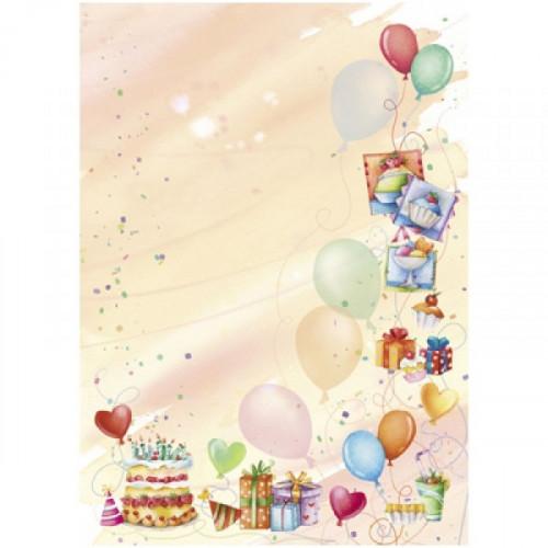 Дизайн-бумага Вечеринка А4 90 г пачка 20 листов