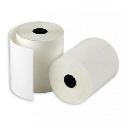 Чековая лента из термобумаги 57 мм (диаметр 43-45 мм, намотка 30 м, втулка 12 мм, 12 штук в упаковке)