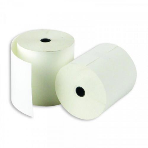 Чековая лента из термобумаги 80 мм (диаметр 57-59 мм, намотка 53 м, втулка 18 мм, 6 штук в упаковке)