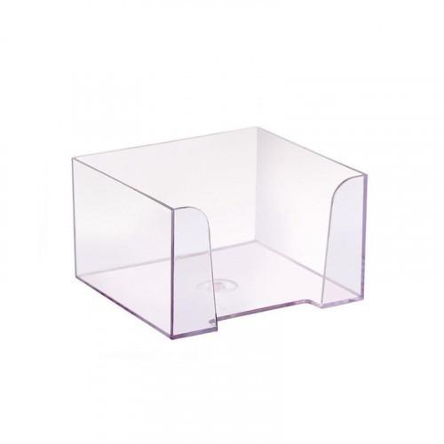 Бокс для бумаги 9х9х5 см прозрачный