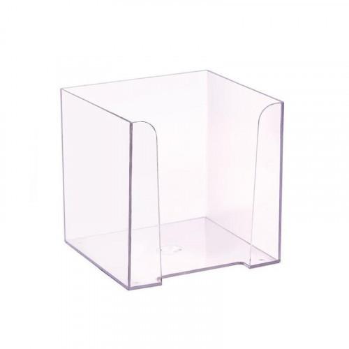 Бокс для бумаги 9х9х9 см прозрачный