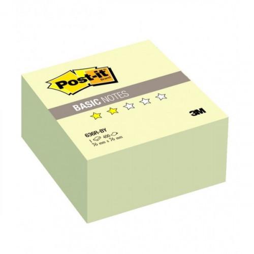 Блок-кубик Post-it Basic куб 76х76 пастельно желтый 400 листов
