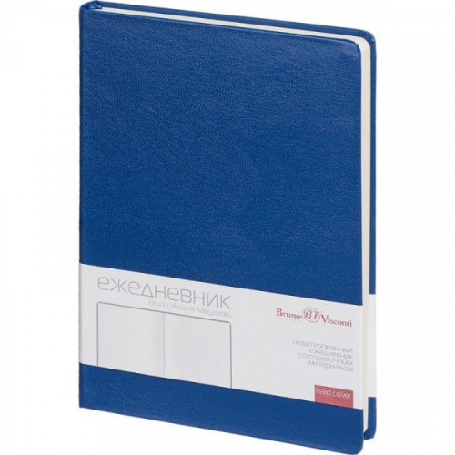 Ежедневник недатированный Bruno Visconti Megapolis искусственная кожа А5 160 листов синий (145x215 мм)