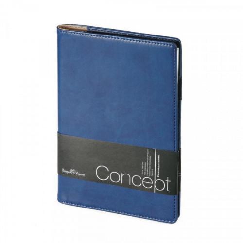 Еженедельник недатированный, А5, 150х208 мм, синий, 64л CONCEPT
