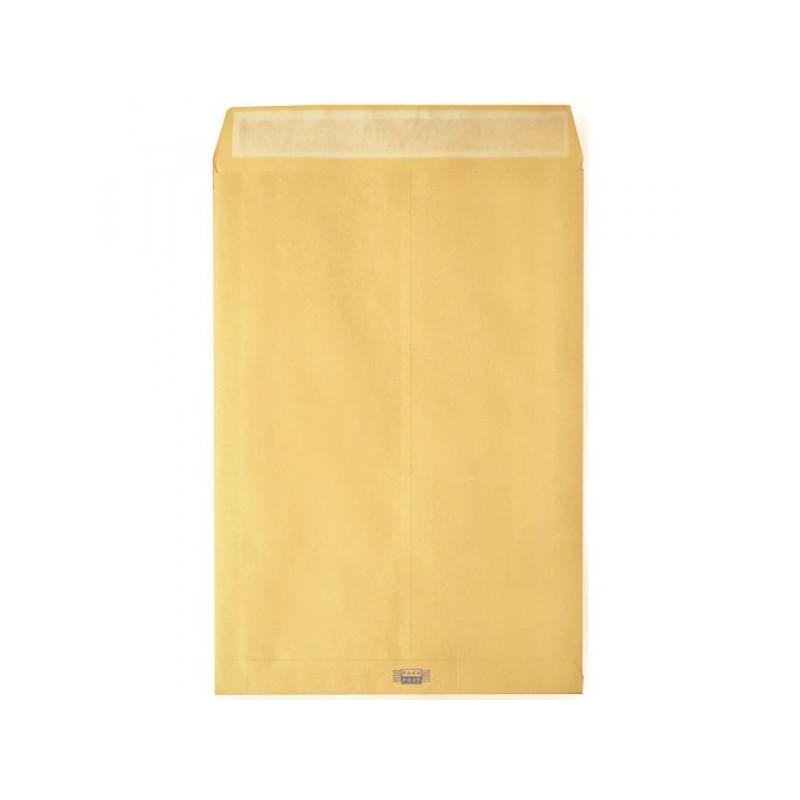 Пакет стрип, B4, 250х353, крафт-бумага, 120 г/м2, 200 штук,  расширение верхнее 40 мм