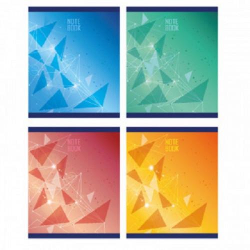 Тетрадь общая А5,48л,кл,скоб,блок-офсет-2 Attache Galaxy син/зел/жел/красс