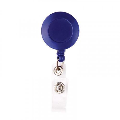 Держатель для бейджика с рулеткой синий