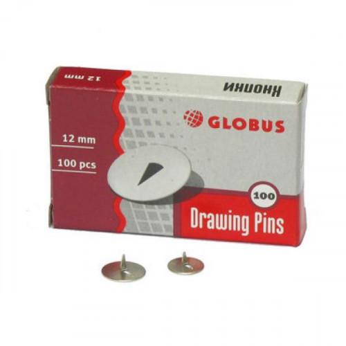 Кнопки металлические диаметр 12 мм 100 штук в пачке Россия