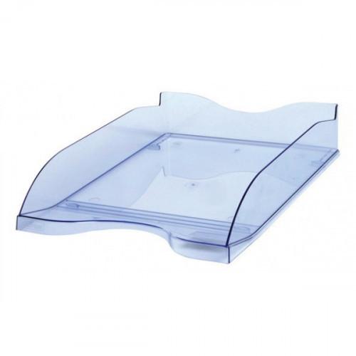 Лоток для бумаг Стамм тонированный голубой 2 штуки в упаковке
