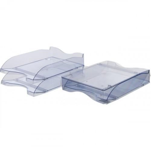 Лоток для бумаг Стамм тонированный серый 2 штуки в упаковке