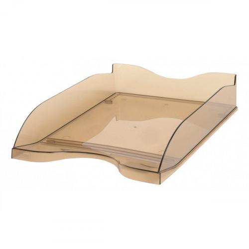 Лоток для бумаг Стамм тонированный коричневый 2 штуки в упаковке