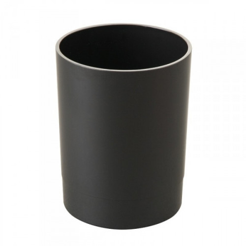 Подставка-стакан для канцелярских мелочей Стамм Офис черная 7х7х9 см