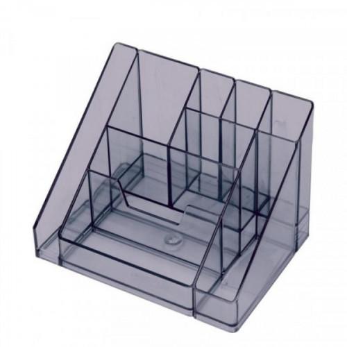 Подставка для канцелярских мелочей Attache каскад 9 отделений тонированный серый