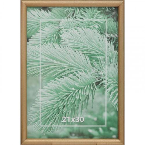 Рамка для фотографий деревянная 21х30 см золотистая