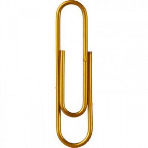 Скрепки Attache золотистые, 50 мм., металлические, 50 шт.в карт.уп.