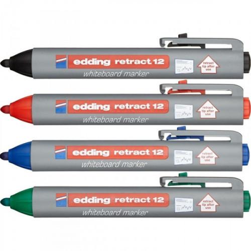 Набор маркеров для досок Edding retract 12 1,5-3 мм 4 штуки