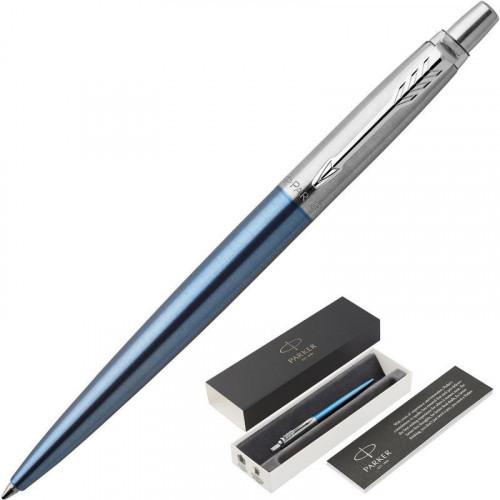 Ручка шариковая автоматическая синяя Parker узел 1 мм линия 0,8 мм